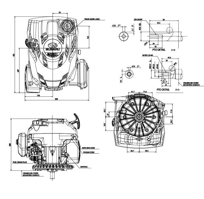ea190v small ohc vertical shaft engine tech info
