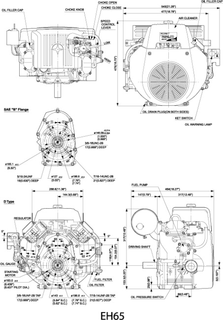 eh65 small ohv v twin engine technical information subaru